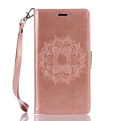 For Wiko Lenny3 Lenny2 PU Leather Material Datura Flowers Pattern Butterfly Phone Case