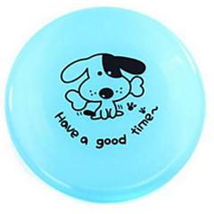 반려동물 장난감 플라잉 디스크 접시 플라스틱 옐로우 그린 블루 핑크