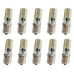 10 kpl 3w e17 koristeluvalo t 64led 3014smd 250-350lm lämmin valkoinen / viileä valkoinen himmennettävä ac110v / 220 v