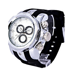 Man SHHORS Sport Leisure Three Eye Alloy Large Dial Quartz Watch