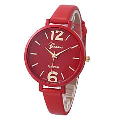 Women's Wrist watch / Quartz PU Band Casual Cool Black White Blue Red Brown Pink Yellow