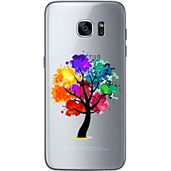 Για Εξαιρετικά λεπτή Διαφανής Με σχέδια tok Πίσω Κάλυμμα tok Δέντρο Μαλακή TPU για Samsung S7 edge S7 S6 edge plus S6 edge S6