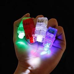 4PCS LED Finger Ring Beams Party Nightclub Gadget Glow Laser Light