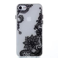 Για Λάμπει στο σκοτάδι tok Πίσω Κάλυμμα tok Σχέδιο δαντέλα Μαλακή TPU για AppleiPhone 7 Plus iPhone 7 iPhone 6s Plus/6 Plus iPhone 6s/6