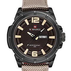 Masculino Relógio Esportivo Relógio Militar Relógio Elegante Relógio de Moda Quartzo Calendário Impermeável Couro Legitimo Banda Casual
