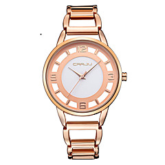 Women's Fashion Watch Quartz Japanese Quartz Water Resistant / Water Proof Stainless Steel Band Silver Orange Rose Gold Brand