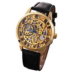 Αντρικά Γυναικεία Αθλητικό Ρολόι Ρολόι Φορέματος Μοδάτο Ρολόι μηχανικό ρολόι Αυτόματο κούρδισμα Ημερολόγιο Μεγάλο καντράν Γνήσιο δέρμα