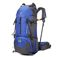 60 L Retkeilyreput Retkeilyrinkat Travel Organizer Backpack Kiipeily Vapaa-ajan urheilu Retkeily ja vaellus MatkailuVedenkestävä