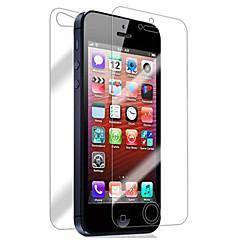 iPhone 5/5Sのための[2パック]フロントとバック網膜スクリーンプロテクター