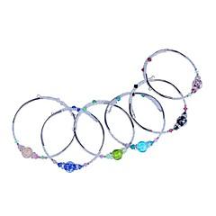 Dames Cuff armbanden Kristal Modieus Verstelbaar Open Verlicht Strass Glas Legering Zwart Groen Blauw Roze Lichtblauw Sieraden VoorFeest