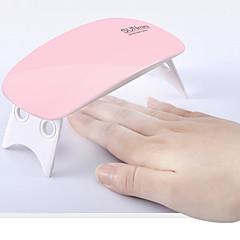 6W Mini Nail Phototherapy Lamp With USB Regularly Polish Glue Roast Lamp Color Random 1Pcs