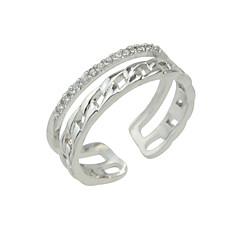 Ringe Normal Schmuck Aleación Strass Damen Ring 1 Stück,Verstellbar Goldfarben Silber Rotgold