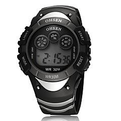 Herre Dame Unisex Sportsklokke Selskapsklokke Moteklokke Armbåndsur Digital Watch Kalender Quartz Digital Ekte lær BandVedhend Armband