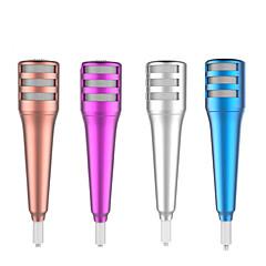 şarkı karaoke sohbet iphone ipad için kulaklık mini mikrofon, stereo kapasitif ses kayıt mikrofon