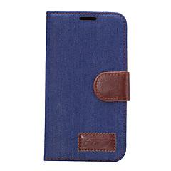 Para Porta-Cartão Com Suporte Flip Capinha Corpo Inteiro Capinha Cor Única Rígida Couro PU para HTC HTC One M9 HTC One M8