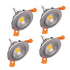 z®zdm 4 stuks 5W 500-550lm ondersteuning dimbare LED-lampjes warm wit koel wit natuurlijk wit AC110V / 220V / 12V