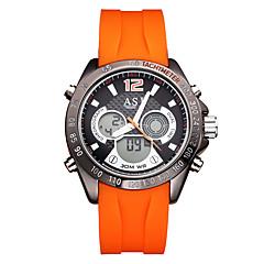 ASJ Męskie Sportowy Modny Zegarek cyfrowy Japoński Cyfrowe Kwarc japońskiLCD Compass Kalendarz Wodoszczelny Dwie strefy czasowe Świecący