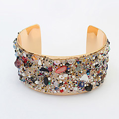 Women's Cuff Bracelet Alloy Fashion Jewelry Black Green Blue Pink Jewelry 1pc
