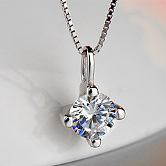 Pendants Sterling Silver Zircon Cubic Zirconia Basic Unique Design Flower Style Fashion Silver Jewelry Daily 1pc