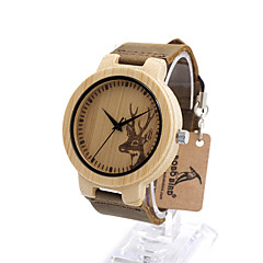 Men's Women's Fashion Watch Unique Creative Watch Wood Watch / Quartz Alloy Band Casual Luxury Khaki Strap Watch