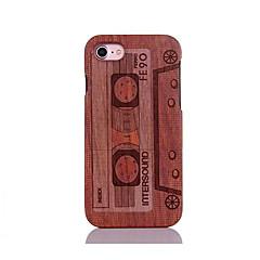 For Stødsikker Præget Mønster Etui Bagcover Etui Tegneserie Hårdt Træ for AppleiPhone 7 Plus iPhone 7 iPhone 6s Plus/6 Plus iPhone 6s/6