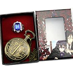 Klok/Horloge Meer Accessoires geinspireerd door Black Butler Ciel Phantomhive Anime Cosplayaccessoires Klok/Horloge Ring Mannelijk