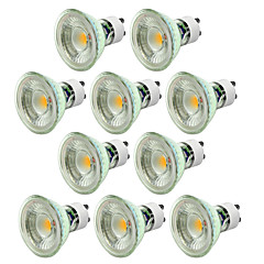 5W GU10 Focos LED MR16 1 COB 500 lm Blanco Cálido Blanco Fresco Regulable AC 100-240 V 10 piezas
