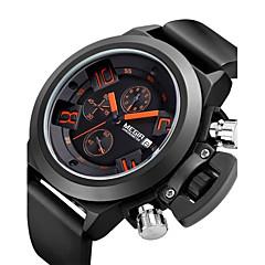 MEGIR Męskie Sportowy Modny Zegarek na nadgarstek Kwarcowy Stop Pasmo Postarzane Na co dzień Wielokoloroe