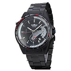 Heren Sporthorloge Dress horloge Modieus horloge Polshorloge mechanische horloges Automatisch opwindmechanisme Hol Gegraveerd Grote
