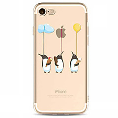 For Apple iPhone 7 7 Plus  6s 6 Plus  SE 5S Case Cover Balloon Penguin Pattern TPU Material Painted High Penetration Simple Phone Case