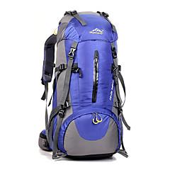 50 L 백패킹 배낭 자전거 배낭 배낭 캠핑 & 하이킹 등산 레저 스포츠 사이클링 방수 충격방지 통기성 나이론