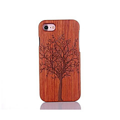 For Shockproof Embossed Pattern Case Back Cover Case Tree Hard Pear Solid Wood for Apple iPhone 7 7 Plus 6s 6 Plus SE 5s 5