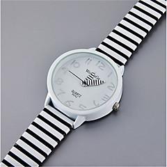 아가씨들 패션 시계 석영 / PU 밴드 캐쥬얼 화이트 상표