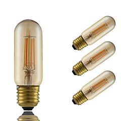 E26/E27 Żarówka dekoracyjna LED T 4 COB 350 lm Bursztynowy Przysłonięcia Dekoracyjna AC 220-240 V 4 sztuki