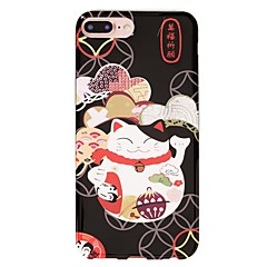 For IMD Case Back Cover Case Black Lucky Cat Animal Soft TPU for  iPhone 7 Plus iPhone 7 iPhone 6s Plus 6 Plus iPhone 6s 6