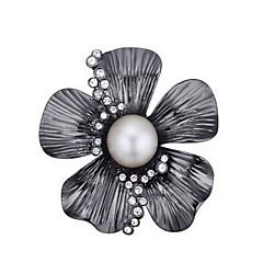 Női Melltűk Kristály Gyöngy Természet Gyöngy Osztrák kristály Ötvözet Flower Shape Ékszerek Kompatibilitás Napi