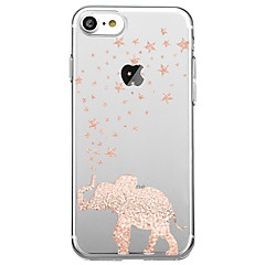 Para Ultra-Fina Transparente Capinha Capa Traseira Capinha Elefante Macia TPU para AppleiPhone 7 Plus iPhone 7 iPhone 6s Plus iPhone 6
