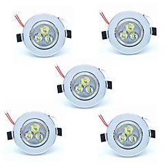 5kpl 3W led ceilling lamppu 300lm lämmin / viileä valkoinen väri LED upotettu alasvalojen kotiin ja hotelli 220-240
