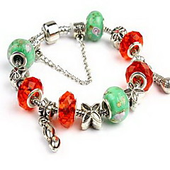 Bracelet Chain Bracelet Crystal Alloy Star Anchor Others Natural Party Birthday Gift Jewelry Gift White,1pc