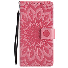 For LG V20 V10 PU Leather Material Sun Flower Pattern Embossed Phone Case X Power C70 C40 K10 K8 K5 K4 K3 G3 G4 G5