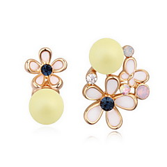 Women's Drop Earrings Crystal Pearl Natural Austria Crystal Alloy Flower Cross Jewelry For Daily
