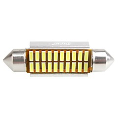 ZIQIAO 41MM 20 SMD LED 4014 CANBUS Car Festoon Interior Light Bulbs(12V/2PCS)