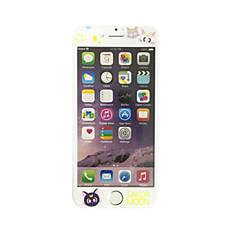 til Apple iPhone 6 plus / 6s plus 5,5 tommer hærdet glas med blød kant fuld skærm dækning foran skærmbeskytter tegneserie kat mønster