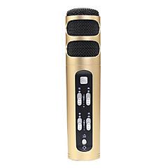 no Kablolu Karaoke Mikrofonu 3.5mm Altın