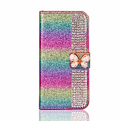 For Apple iPhone 7 Plus 7 Case Cover Card Holder Rhinestone with Stand DIY Full Body Glitter Shine Hard PU Leather 6s Plus 6 plus 6s 6