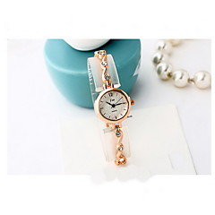 Women's Fashion Watch Quartz Alloy Band Cool Casual Silver Rose Gold