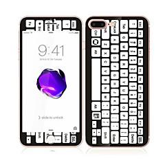 iPhone 7 plus 5,5 karkaistua lasia pehmeällä reunalla koko näytön kattavuuden edessä ja takana näytön suojus näppäimistön malli