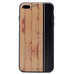 Mert Ultra-vékeny Case Hátlap Case Fa mintázat Puha TPU mert Apple iPhone 7 Plus iPhone 7 iPhone 6s Plus/6 Plus iPhone 6s/6 iPhone SE/5s/5