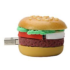 16gb χάμπουργκερ δίσκο από καουτσούκ USB2.0 μονάδα flash