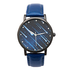 Unisex Fashion Watch Quartz Leather Band White Blue Brown